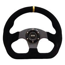 Steering Wheel Flat Suede 320mm Carbon Effect Spokes OMP Style SVi-4150BSUC