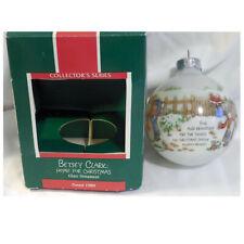 Hallmark Keepsake Glass Ornament in Box 1989 Betsy Clark: Home For Christmas Usa