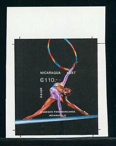 Nicaragua MNH Specialized: Scott #1653 110C Pan American Games PROOF $$$
