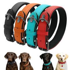 Genuine Leather Dog  Collar Necklace Puppy Neck Adjustable for Large Medium Dog