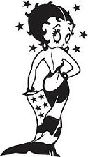 Betty Boop - Sticker 25cm Graphic All Colours Gloss Vinyl Decal - Betty008