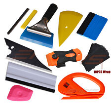 Window Tint Tools Kit Rubber Squeegee Razor Scraper Safety Vinyl film Cutter UK