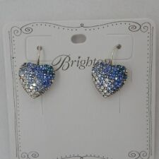 Brighton Silver Swarovski Crystal Post Earrings Br9001