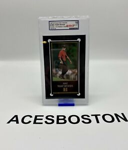 1997-99 Grand slam Ventures Masters Collection TIGER WOODS Rookie RC Gem-Mt📈📈