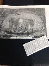 J1-6 Ephemera 1863 Folded Article Pantomime Olympic & Review Robin Hood