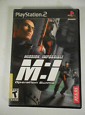 MISSION IMPOSSIBLE OPERATION SURMA Sony Playstation 2 PS2 Game