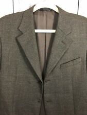 Armani Mens Suit Jacket Sz 40L Wool Brown Flaw Missing Middle Button Has extra