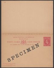 BAHAMAS, 1902. Paid Reply Post Card H&G 6, Specimen