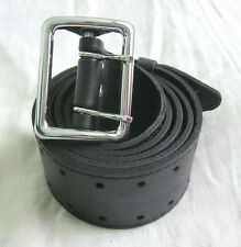 Russian Military Officer Leather Belt Uniform Black NEW