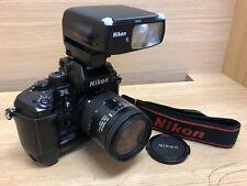 *Near Mint* Nikon F4S SLR Film Camera w/ AF Nikkor 28-85mm Lens , SB-27 From JPN