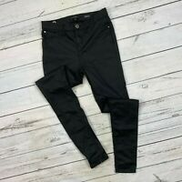River Island Molly Faux Leather Jegging Size 10 UK 8 US Womens Skinny Black