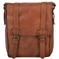 Ashwood Vintage Leather A4 Messenger Bag - 7995- Rust