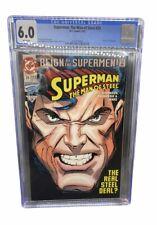 DC Superman Man of Steel #25 CGC 6.0 Comic Book