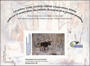 CANADA 2011  YOUTH WILDLIFE DUCK STAMP  MOOSE These were only issued 2010-2013