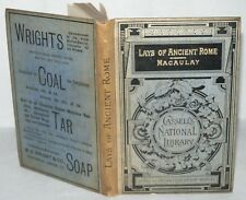 Lays Of Ancient Rome, Macauley, 1887, Cassell National Library, HB