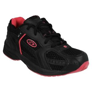 GIRLS HI TEC R155 JRG BLACK LACE UP CASUAL SPORTS EVERYDAY TRAINERS SHOES