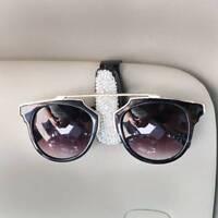 Crystal Car Glasses Clips Sun Visor Decor Card Clip Interior Accessories AU