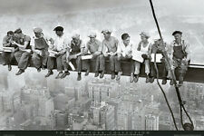 MEN ON A GIRDER POSTER (61x91cm) FRIENDS WORKERS MANHATTAN PICTURE PRINT NEW ART
