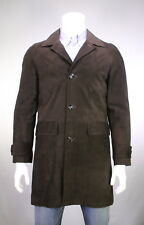 NWT New KITON k Dark Brown Reindeer Suede Leather Quilted Lined Jacket 40