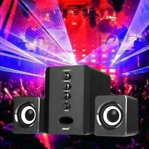 Wired 2.1 Computer Speakers + Subwoofer 3.5mm Jack for Desktop Laptop PC Speaker