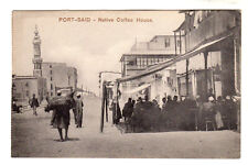 Native Coffee House - Port Said Photo Postcard c1905 / Egypt