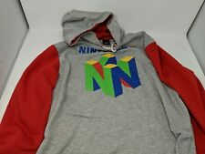 MEN'S NINTENDO N64 CONSOLE LOGO HOODY, RED & GREY, SIZE EXTRA LARGE, XL