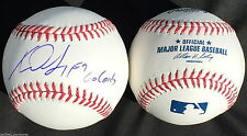XAVIER SCRUGGS SIGNED OMLB BASEBALL ST LOUIS CARDINALS AUTOGRAPHED PROOF J3