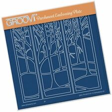 CLARITY STAMP GROOVI Parchment Embossing Plate TREESCAPE GRO-TR-40515-03