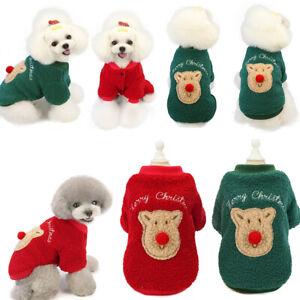 Rentier Lammwolle Sweater Haustier Weihnachtskostüm Haustierkleidung Welpe Hund