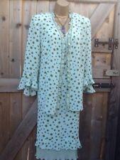 LUIS CIVIT Green Dress Suit Dress Size14 Jacket 16