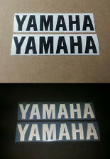 2 x Yamaha YZF R1 R6 R125 Black Reflective motorcycle sticker decal motorbike