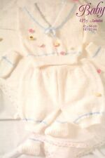 Baby's Jumper, Trousers, Bootees and Mittens Sailor Suit Knitting Pattern MC022