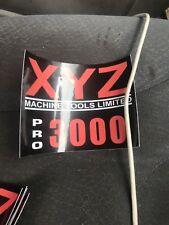 XYZ Pro 3000 CNC Fresadora Calcomanía parte Int40
