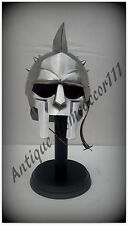Medieval Greek Reproduction Armour Gladiator Helmet Knight With Wooden Stand ...