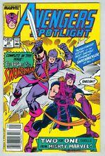 Avengers Spotlight #22 September 1988 VG Hawkeye