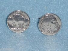Handsome MENS  HEAD & BUFFALO Nickel Coin Cuff Links Made in U.S.A NIB  SALE