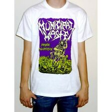 "Municipal Waste ""Massive Aggressive"" White T-shirt - NEW OFFICIAL fatal feast"