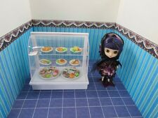 DOLLHOUSE MINIATURE CAKE SHELF DISPLAY and MANY LUNCH PLATES