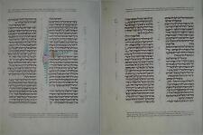 ripr. pagina Kennicott Bibble La Coruna 1476 su pregiata pergamena fregi a mano