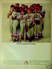 1964 Canada Dry Soda Grapefruit League Kids Baseball AD