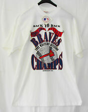 White T Shirt BRAVES CHAMPS Back to Back Western Division 1992 Sz XL