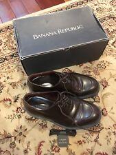 Banana Republic 8.5 D Men's Lace Loafer Solitaire Brown Calf Dress Shoes + Laces