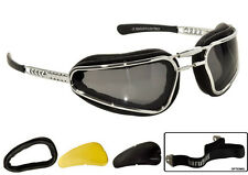 BARUFFALDI EASY RIDER MOTORCYCLE GLASSES BLACK CUSTOM CAFE BMW TRIUMPH HARLEY MV