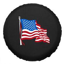 American Flag Canvas Spare Car Tire Cover RV Truck SUV Camper Wheel Care 15inch
