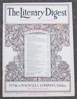 Literary Digest Magazine July 25, 1908 Universal Revolt of Women/Holidays/India