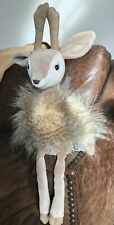 "Retired Jellycat Roxie the Reindeer 20"" Plush Stuffed Animal Toy Deer"