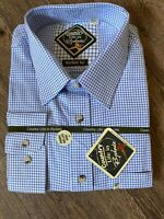 COUNTRY LIFE IN RYDALE LONG SLEEVE COTTON  SHIRT White Blue Check XXL Farming