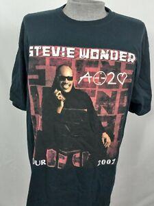 Vintage 2007 Stevie Wonder Tour T Shirt XL A Time To Love Rap Tee R&B