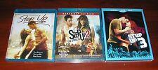 Step Up 1 2 3 New Blu-ray Set Touchstone Disney