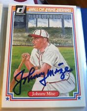 Johnny Mize Autograph Donruss Baseball Card